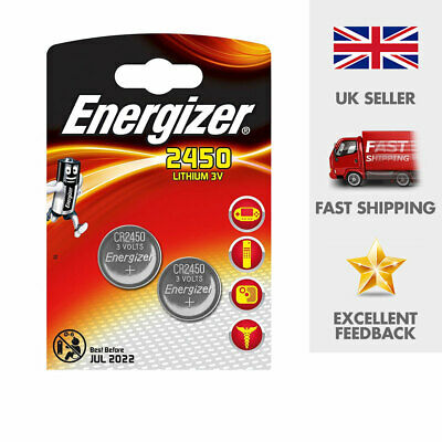Energizer CR2450 3V Lithium Coin Cell Battery 2450 DL2450