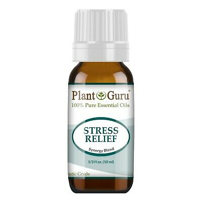 Stress Relief Essential Oil Blend 10 ml 100% Pure For Anxiety, Depression Away