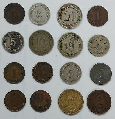German Coin Lot!!! 1875-1927!!!  See Pics... Great Starter Collection!!!