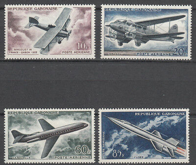 Gabon - 1962 Aviation Air stamp set  Sc# C7/C10 - MLH (7083)