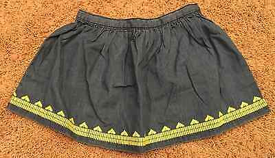 NWT Girl's Gymboree Blue Skirt Yellow Trim 5T