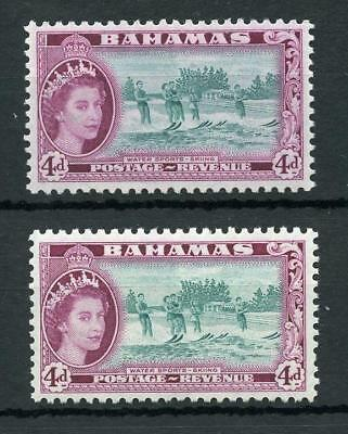 Bahamas 1954-63 4d turquoise-blue and deep reddish purple SG206a MLH