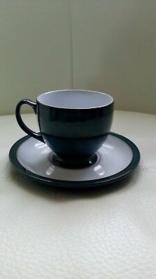 Denby teal blue/green teacup and saucer excellent condition