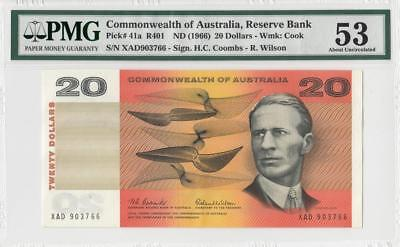 1966 AUSTRALIA $20 **Coombs & Wilson** ~Consecutive 2 of 3~ (( PMG 53 ))