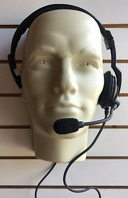 Kenwood KHS-7 Lightweight Headset Ready For TK3100 Series 2-Pin USED