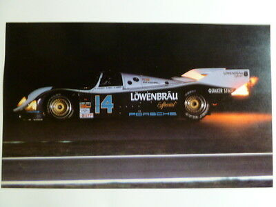 1987 Porsche 962 Lowenbreau Coupe Print, Picture, Poster RARE!! Awesome L@@K