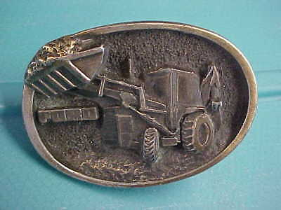 Vintage Solid Brass Western Rare Old Ford Front End Loader Tractor Belt Buckle