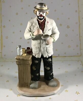 Emmett Kelly Jr PHARMACIST Clown Collection Flambro Excellent Condition Figurine