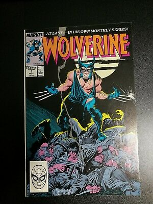Wolverine Comic Book  #1 Nov 1989 Marvel -- At Last - In His Own Monthly Series!