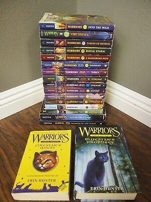Lot of 18 Warriors Series Books by Erin Hunter - Mix of Warrior Series & Titles