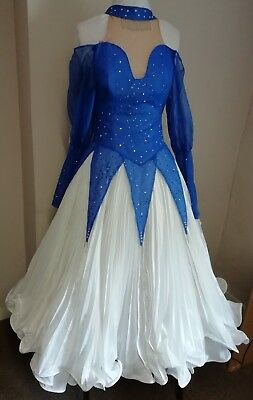 Dance dress.  Blue & White. Small size.