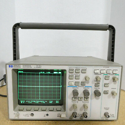 HP 54600A 100MHz 2 Channel Digital Oscilloscope w/ 54658A Module Tested/Working