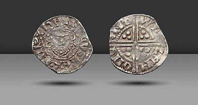 ENGLAND. Henry III Silver Penny. Canterbury Mint, 1250-1272, Class 1D