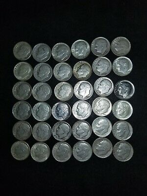 Roosevelt dimes Lot of 36. SILVER