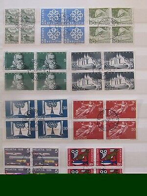 Switzerland stamp(BLOCKS) collection on 6 pages