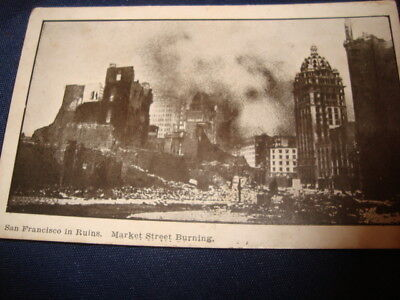 Vintage Rppc San Francisco Fire And Earthquake 1906  (5)