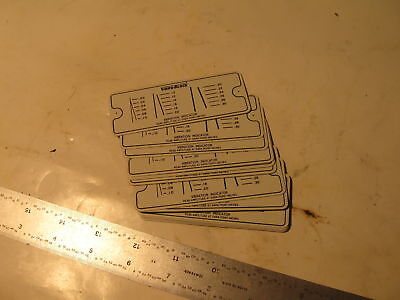 "13 pieces Vibroblock Indicator Plates, new, aluminum. 3.5"" x 1.5"""