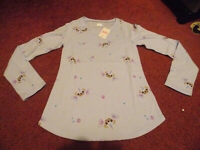 justice-girls size 18/20--baby blue - pugicorn printed long sleeve top--nwt