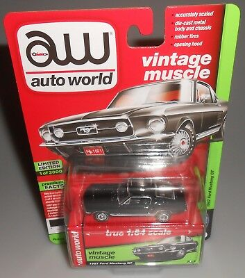 Auto World 1967 Ford Mustang Gt Black Vintage Muscle Premium 2018