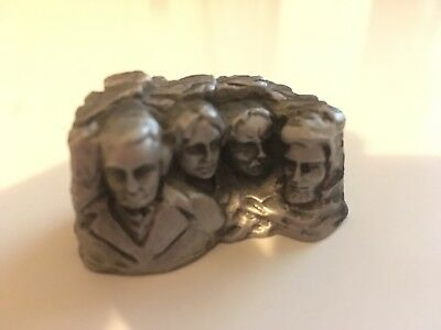 Vintage Miniature Mount Rushmore Superb Genuine Pewter 1.75""
