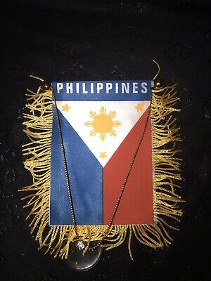Philippines flag automobile rearview mirror or window flag car  Filipino pride