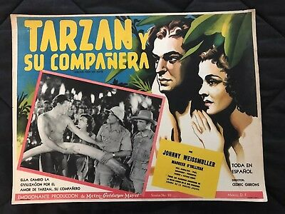 Tarzan and His Mate JOHNNY WEISSMULLER 1934  Mexican Lobby Card
