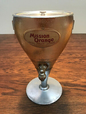 ORIGINAL 1930's MISSION ORANGE SYRUP DISPENSER With LABLES - RARE with LABLES