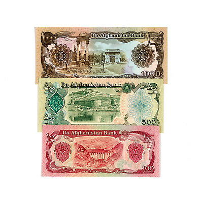 Set of 3 diff. Afghanistan 1979-91 Au-Uncirculated