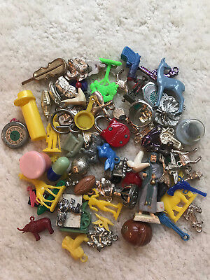 Lot Of 1950's-70's  Vintage Gumball Cracker Jack Vending Charms And Prizes!  B