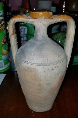 Antique Greek Or Roman Terra Cotta Amphora Wine Olive Oil Bottle