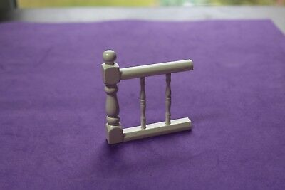 Vtg DollHouse Miniature Wood Railing Baluster End Furniture Accessory