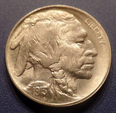 1913 P Buffalo Nickel Type 1 Unc-BU