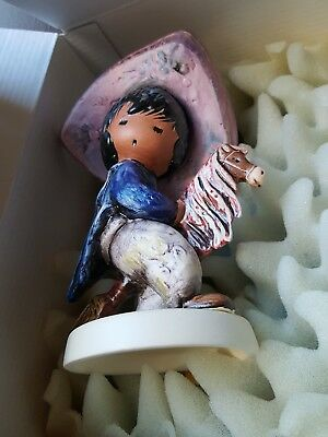 "Ted DeGrazia "" My First Horse"" by Goebel 1984 Mint in Box"