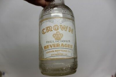 Crown Delicious Beverages Soda Bottle, Kittanning, Pennsylvania 1939
