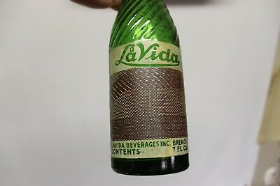 La Vida Beverages Soda Bottle, Brea, California 1938