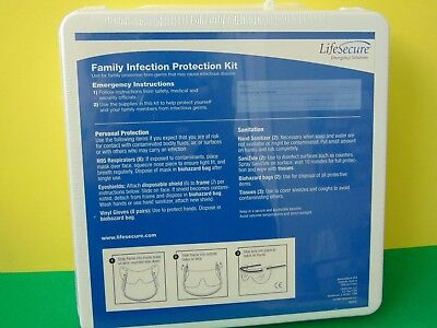 Lifesecure Family Infection Protection Kit for 4 Person 2-Day New & Sealed