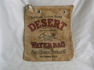 Vintage Desert Water Bag Ames Harris Neville Co San Francisco Evaporative  Bag