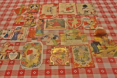 Lot 78 Vintage 20s 40s 50s 60s Greeting Cards Valentine Birthdays Christmas