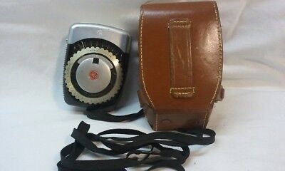 Vintage G E Light Exposure Meter Light meter Type PR-1 with Leather case