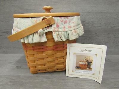 2001 Mother's Day Vintage Blossoms Basket with Liner