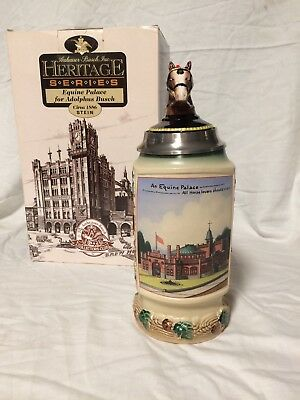 2000 Budweiser Heritage Series Equine Palace Collectors Club Stein CB19