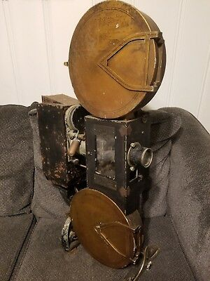 """Holmes p1813 35mm silent Movie Projector - 1920's - """"portable"""" - decorative"""