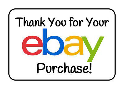 100 GLOSSY Seller Thank You for Your Ebay Purchase Rectangular Stickers/Labels