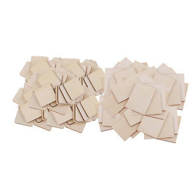 Lots 100 Wooden Coaster Plain Wood Craft Blank Pieces Unfinished Plaque DIY