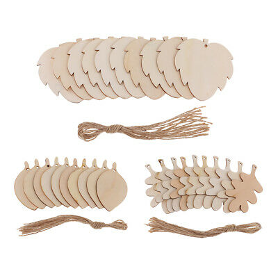 10Pcs Leaf Shapes Wooden Craft Blank Wood Pyrography Tags DIY Embellishments