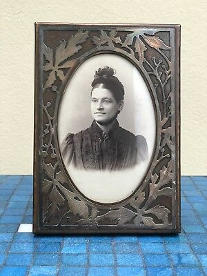 Antique Sterling Silver Bronze Arts And Crafts Heintz Style Photo Picture Frame