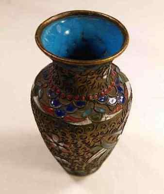 Small Vintage Chinese CLOISONNE Vase - RB