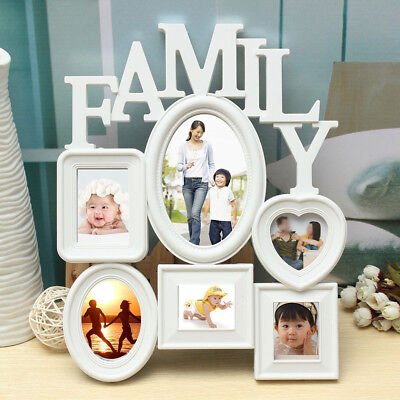 COLLAGE PICTURE FRAME Holds 8 Images Family Rules Wall Hanging ...