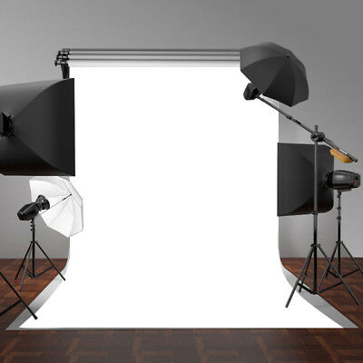 5x7FT White Wall Vinyl Photography Backdrop Photo Background Studio Props NEW