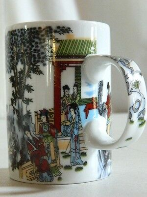 Vintage Collectible Japanese Kimono Geisha Girls Coffee Mug Tea Cup